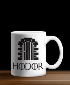 Taza Blanca Hodor Hold the Door, Game of Thrones, GOT