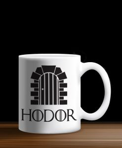 Taza Blanca Hodor Hold the Door, Game of Thrones, GOT