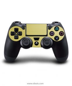 Skin para Ps4 consola y controles textura oro Brushed