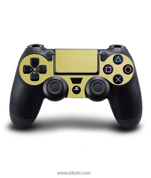 Skin para Ps4 consola y controles textura oro Brushed