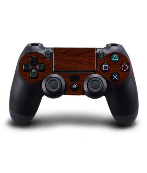 Skin para Ps4 consola y controles textura madera caoba