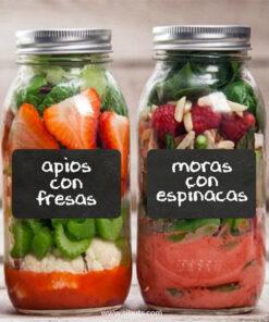Etiquetas frascos pizarrón Mason Jars