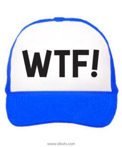 Gorra trucker camionero azul WTF