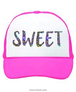 Gorra trucker camionero rosa neón sweet