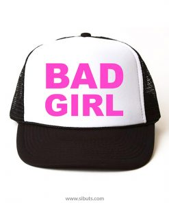 Gorra trucker camionero negra bad girl