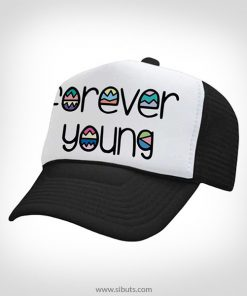 Gorra trucker camionero negra forever young