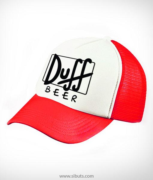 Gorra trucker camionero roja Duff Beer