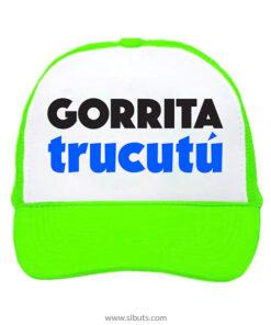 Gorra trucker camionero verde neón gorrita trucutú
