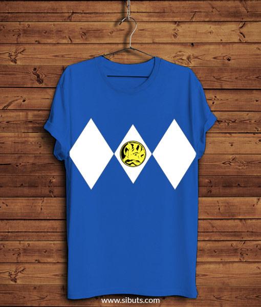 Playera azul power ranger azul
