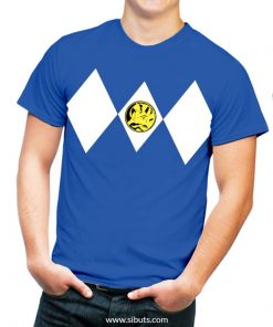 Playera azul power ranger azul