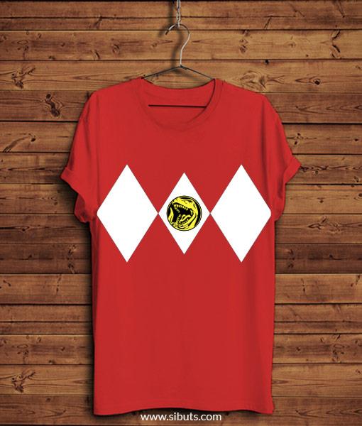 Playera roja power ranger roja