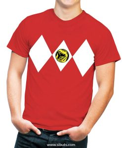 Playera roja power ranger roja