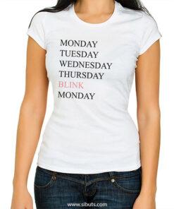 Playera mujer Monday Blink