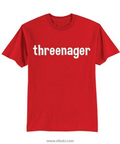 Playera roja niño Threenager