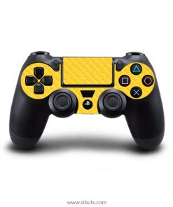 Skin control PS4 fibra de carbono amarillo