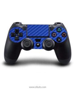 Skin control PS4 fibra de carbono azul