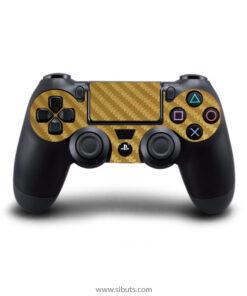 Skin control PS4 fibra de carbono oro