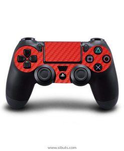 Skin control PS4 fibra de carbono rojo
