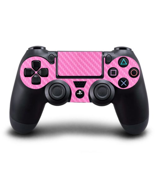 Skin control PS4 fibra de carbono rosa