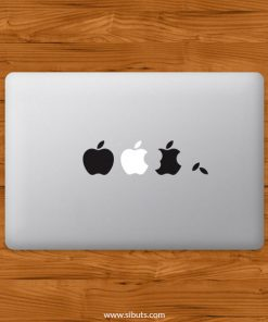 Sticker Calcomanía laptop macbook apples