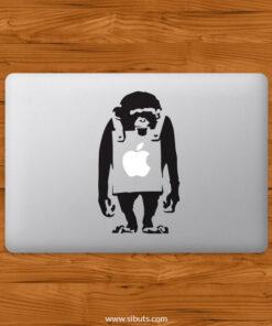 Sticker Calcomanía laptop macbook Bansky monkey