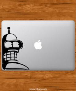 Sticker Calcomanía laptop macbook Bender Futurama