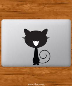 Sticker Calcomanía laptop macbook Gato