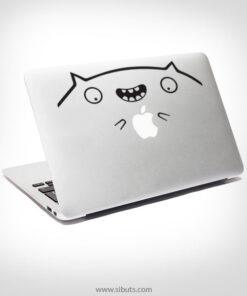 Sticker Calcomanía laptop macbook Fatcat