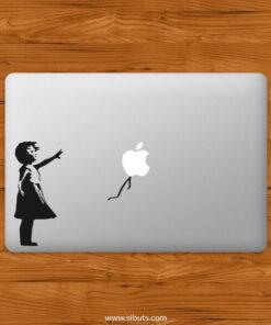 Sticker Calcomanía laptop macbook Niña Globo