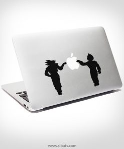 Sticker Calcomanía laptop macbook Goku Vegeta Dragon Ball