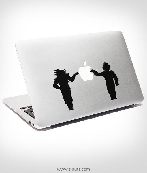 Sticker Calcomanía laptop macbook Goku Vegeta Dragon Ball