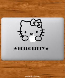 Sticker Calcomanía laptop macbook Hello Kitty