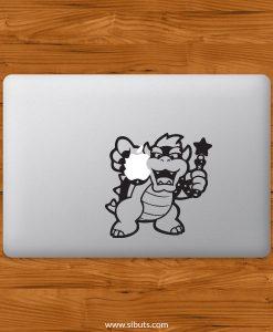 Sticker Calcomanía laptop macbook Koopa mario bros
