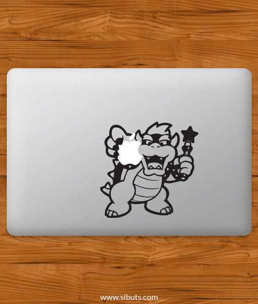 Sticker Calcomanía laptop macbook Koopa mario bros