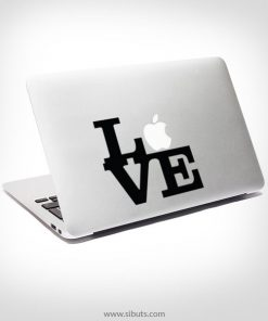 Sticker Calcomanía laptop macbook love