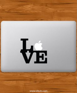 Sticker Calcomanía laptop macbook love