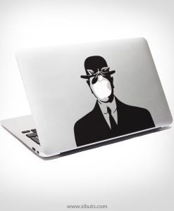 Sticker Calcomanía laptop macbook magritte