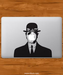 Sticker Calcomanía laptop macbook magritte