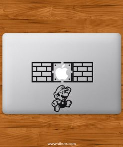 Sticker Calcomanía laptop macbook mario jump