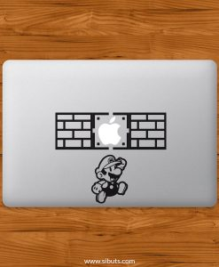 Sticker Calcomanía laptop macbook mario jump