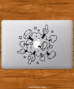Sticker Calcomanía laptop macbook mickey cloud
