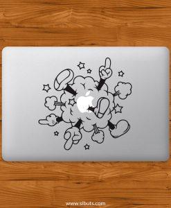 Sticker Calcomanía laptop macbook mickey cloud