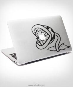 Sticker Calcomanía laptop macbook planta carnívora mario bros