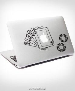 Sticker Calcomanía laptop macbook cartas