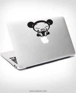 Sticker Calcomanía laptop macbook pucca