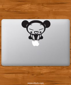 Sticker Calcomanía laptop macbook pucca