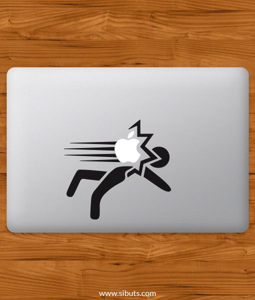 Sticker Calcomanía laptop macbook smack
