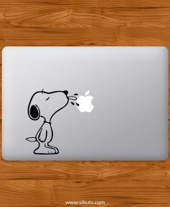 Sticker Calcomanía laptop macbook snoopy lengua
