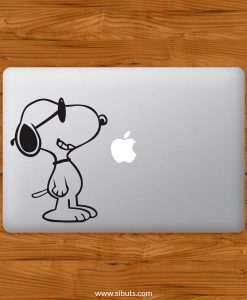 Sticker Calcomanía laptop macbook snoopy lentes