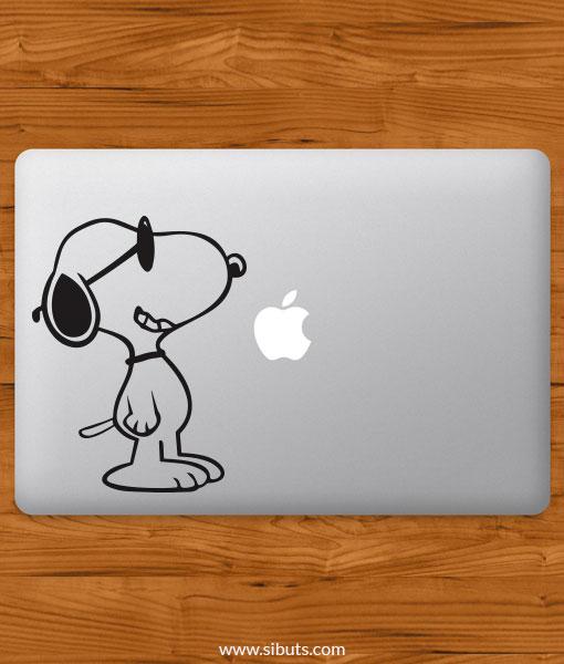 Sticker Calcomanía laptop macbook snoopy lentes